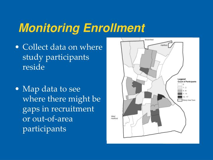 Monitoring Enrollment
