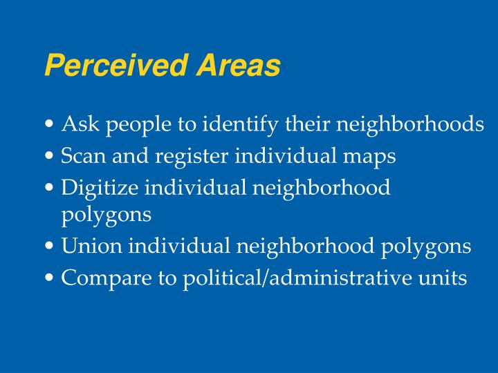 Perceived Areas