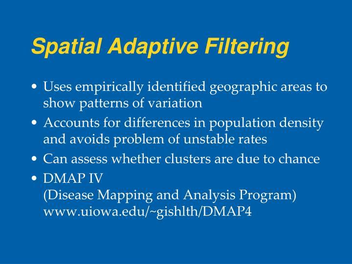 Spatial Adaptive Filtering
