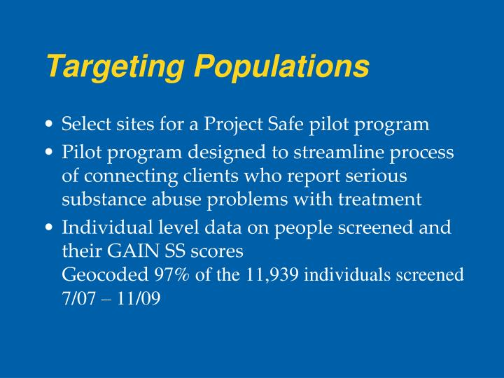 Targeting Populations