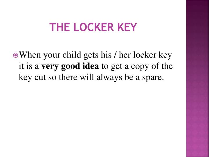 The Locker Key
