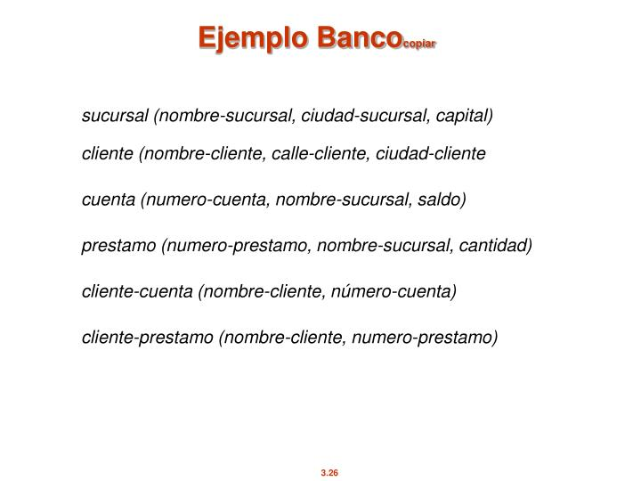 Ejemplo Banco