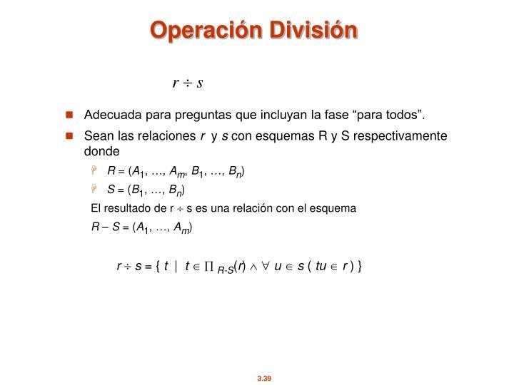 Operación División