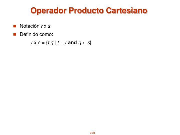 Operador Producto Cartesiano