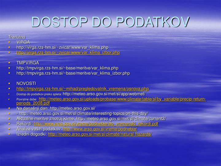 DOSTOP DO PODATKOV