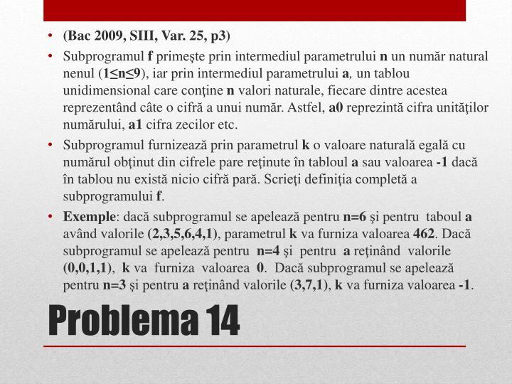 (Bac 2009, SIII, Var.