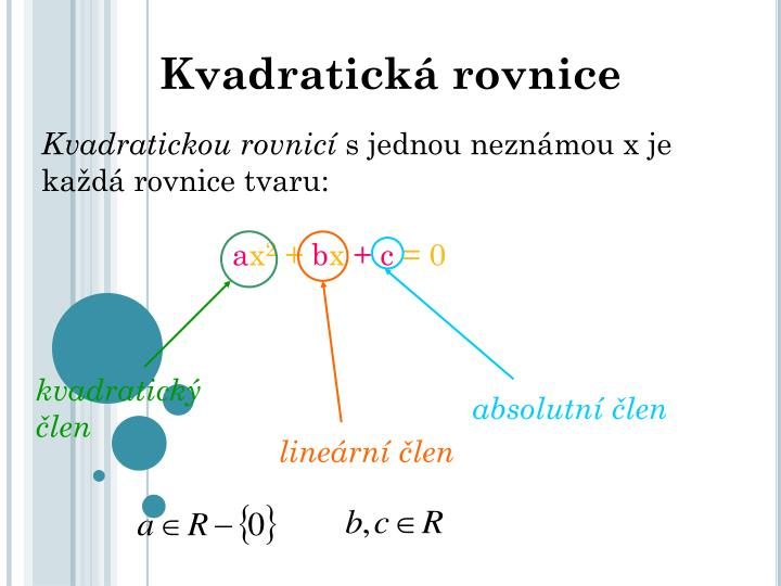Kvadratická rovnice
