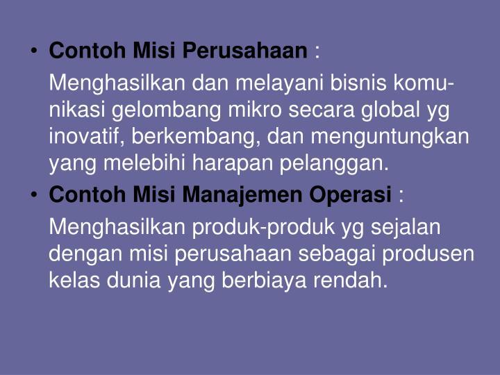 Contoh Misi Perusahaan