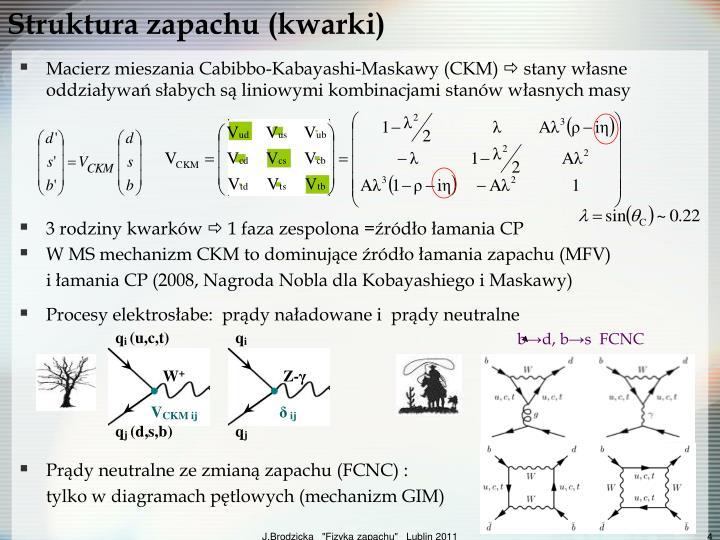Struktura zapachu (kwarki)