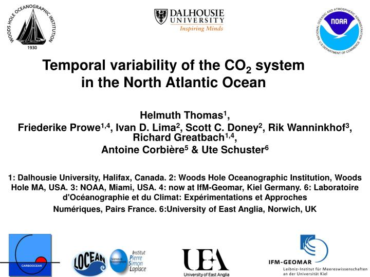 Temporal variability of the CO