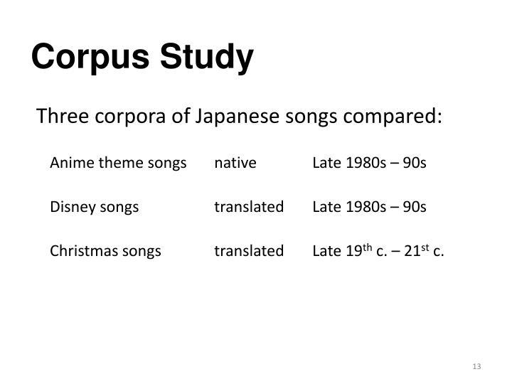 Corpus Study