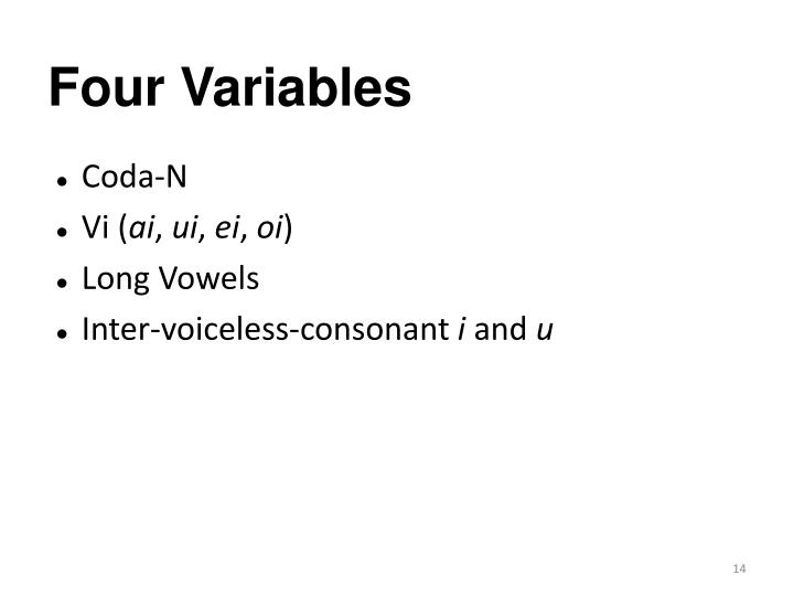 Four Variables
