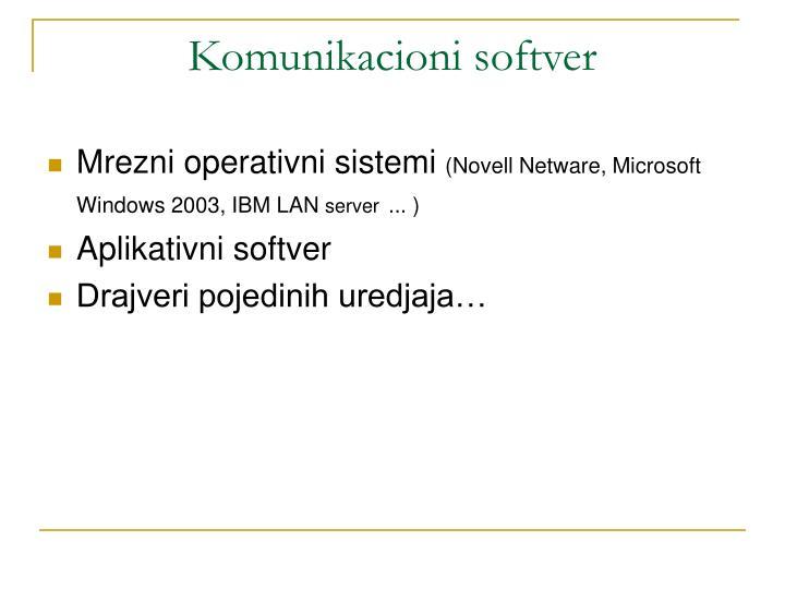 Komunikacioni softver