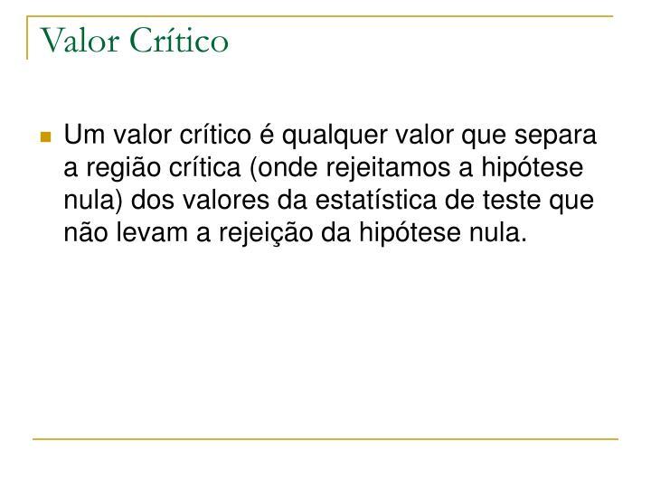 Valor Crítico