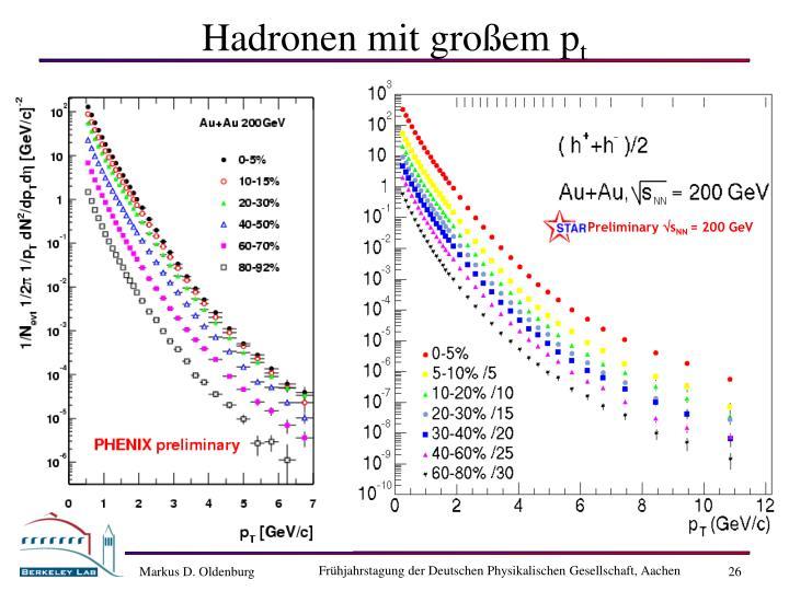 Hadronen mit gro