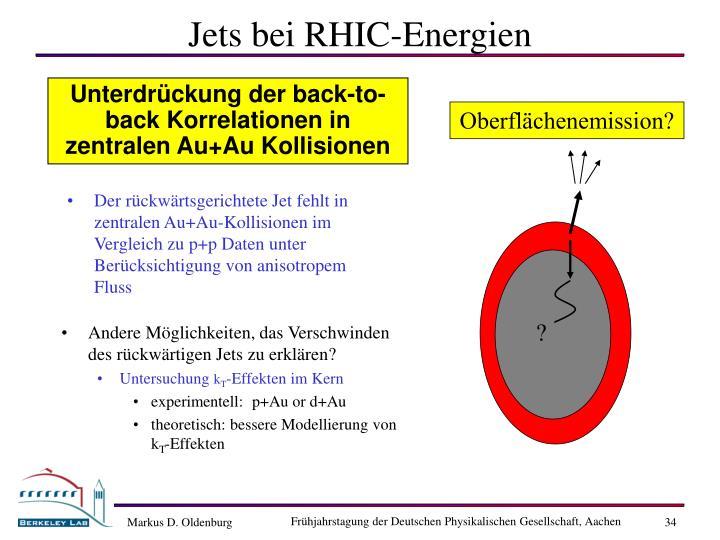 Jets bei RHIC-Energien