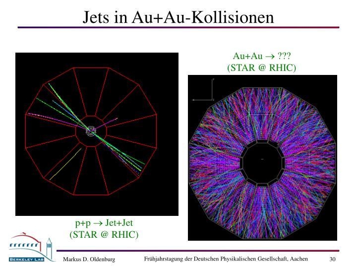 Jets in Au+Au-Kollisionen