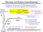 messung von hadron unterdr ckung