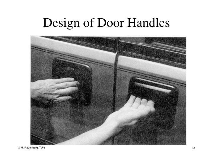 Design of Door Handles