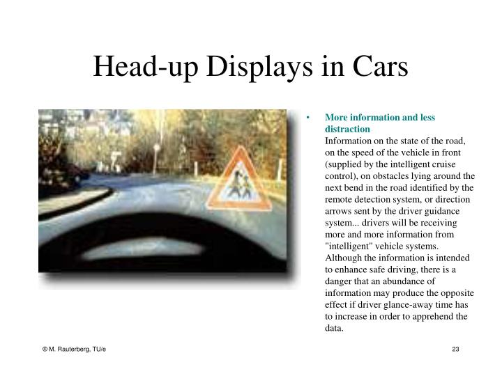 Head-up Displays in Cars