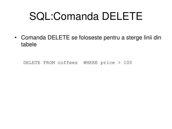 SQL:Comanda DELETE