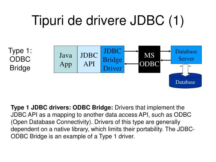 Tipuri de drivere JDBC (1)