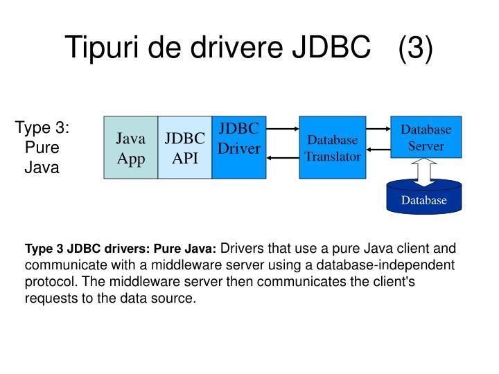 Tipuri de drivere JDBC   (3)