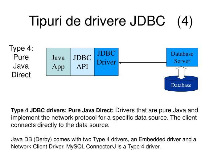 Tipuri de drivere JDBC   (4)