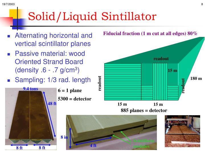 Solid/Liquid Sintillator