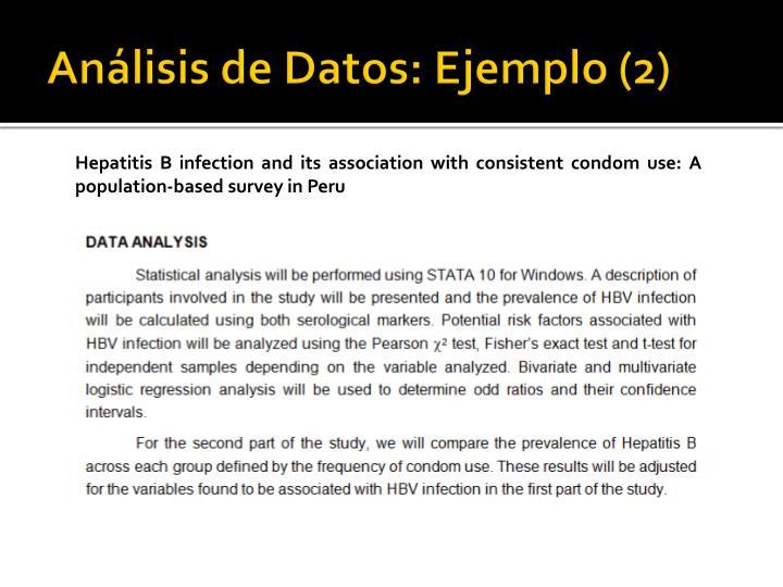 Análisis de Datos: Ejemplo (2)