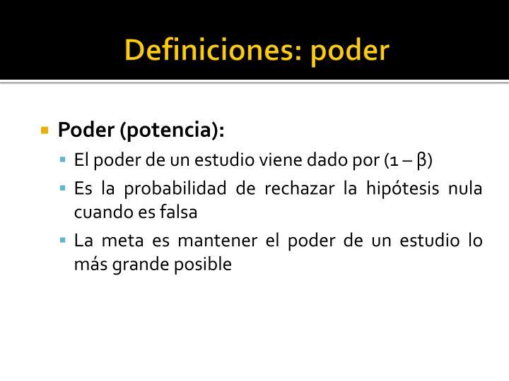 Definiciones: poder