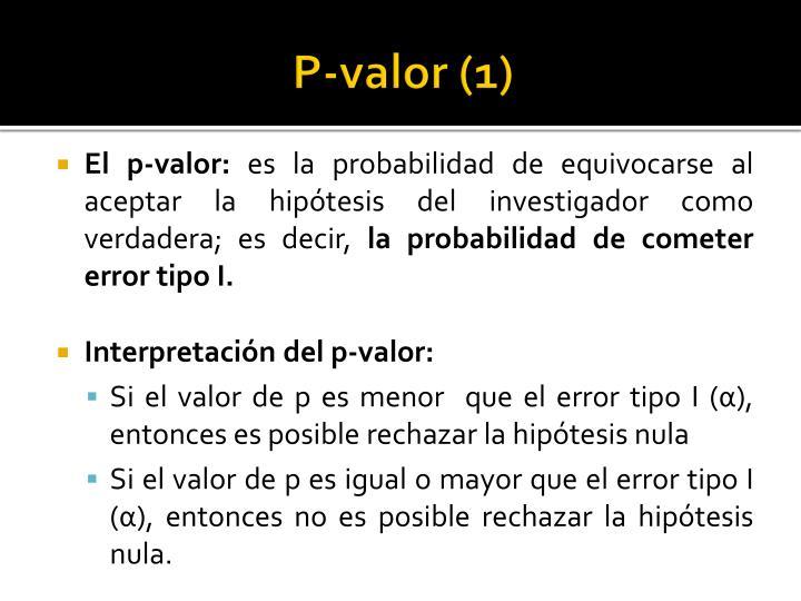 P-valor (1)
