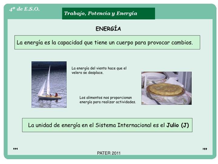 La unidad de energía en el Sistema Internacional es el