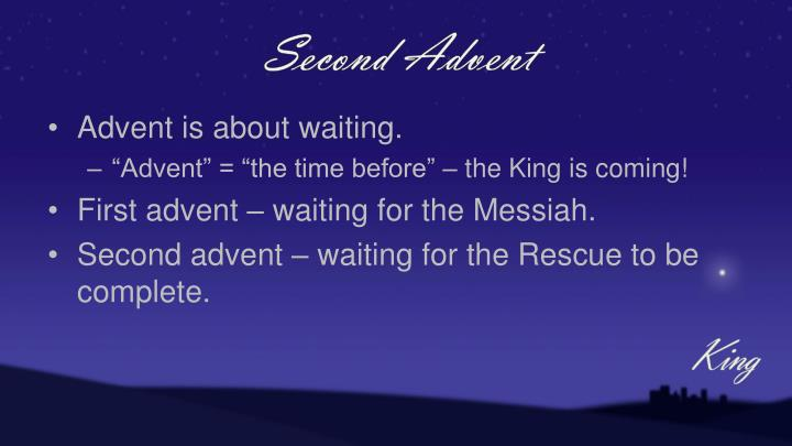 Second Advent