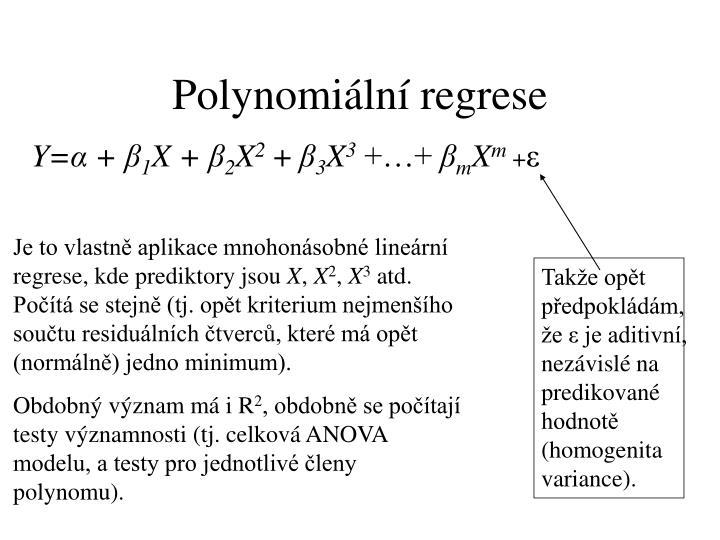 Polynomiální regrese