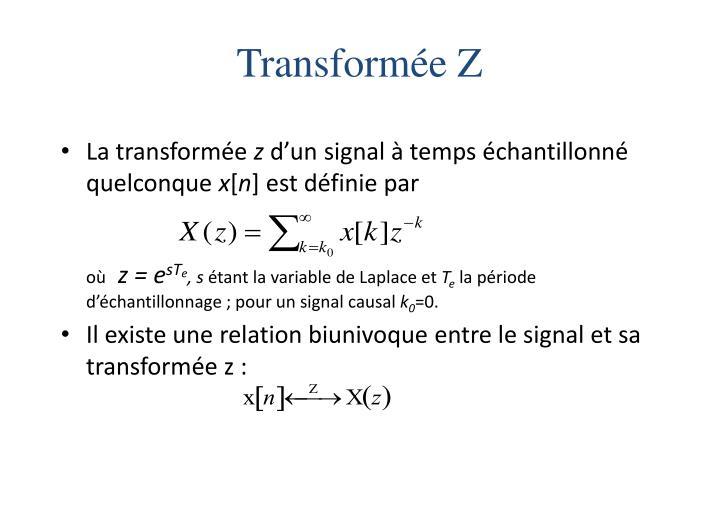 Transformée Z