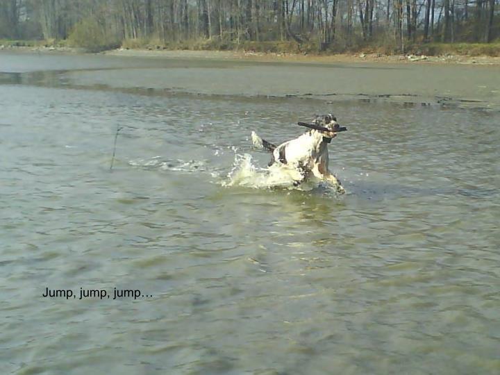 Jump, jump, jump…