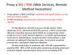 proxy a ws rmi web s ervices r emote m ethod i nvocation