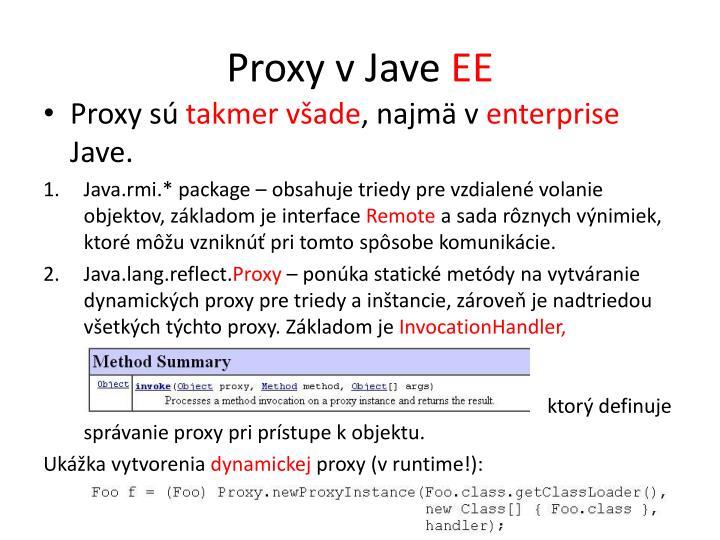 Proxy v Jave