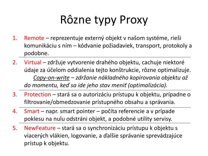 Rôzne typy Proxy