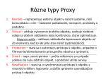 r zne typy proxy