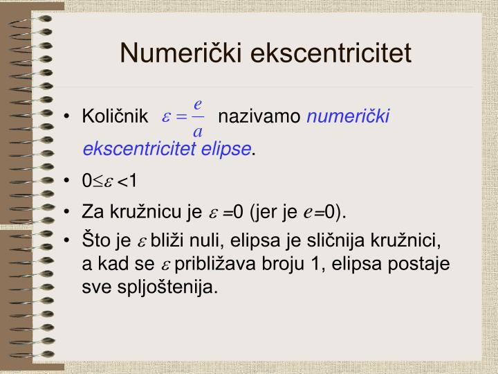 Numerički ekscentricitet