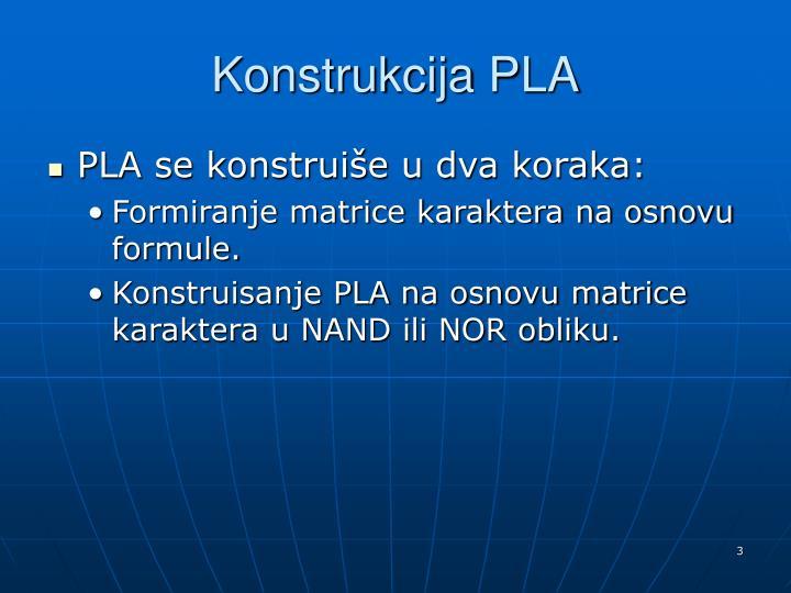 Konstrukcija PLA