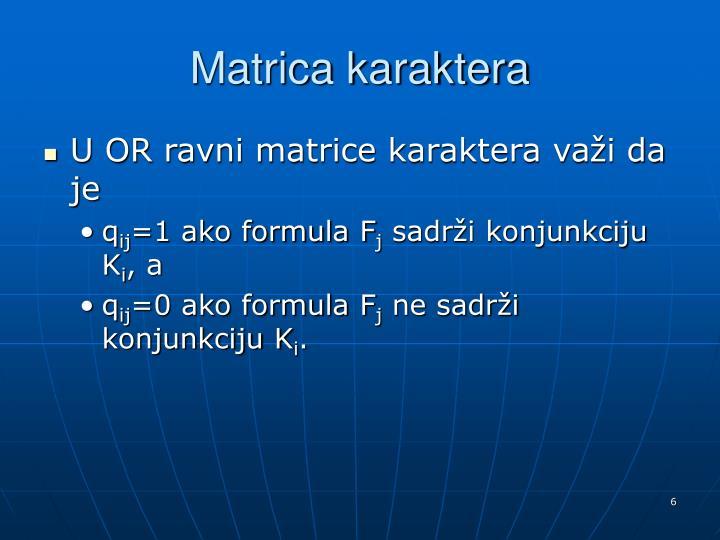 Matrica karaktera