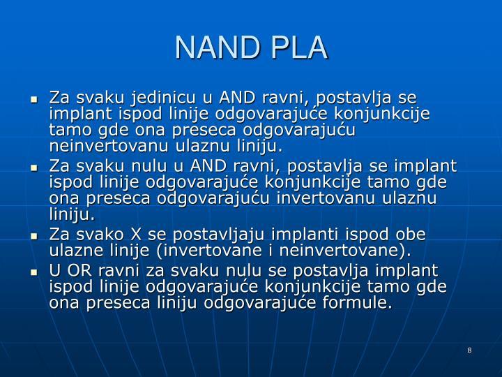 NAND PLA