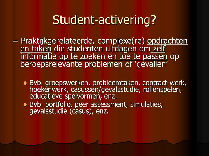 Student-activering?
