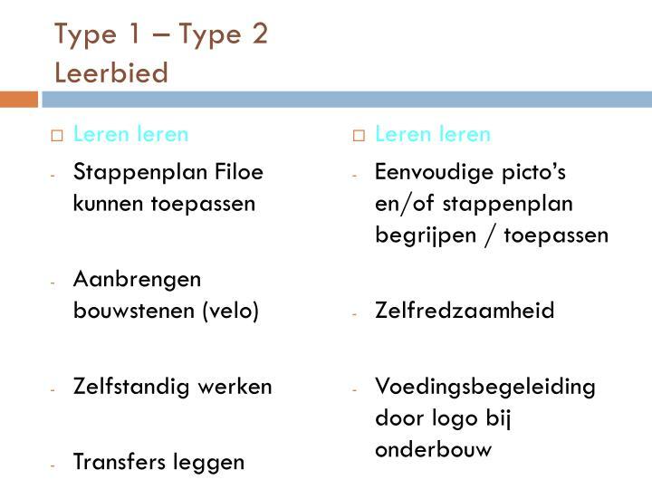 Type 1 – Type 2