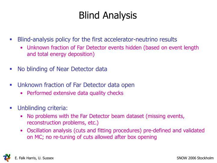 Blind Analysis