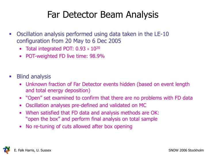 Far Detector Beam Analysis