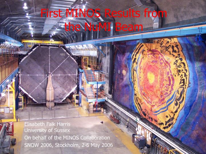 First minos results from the numi beam